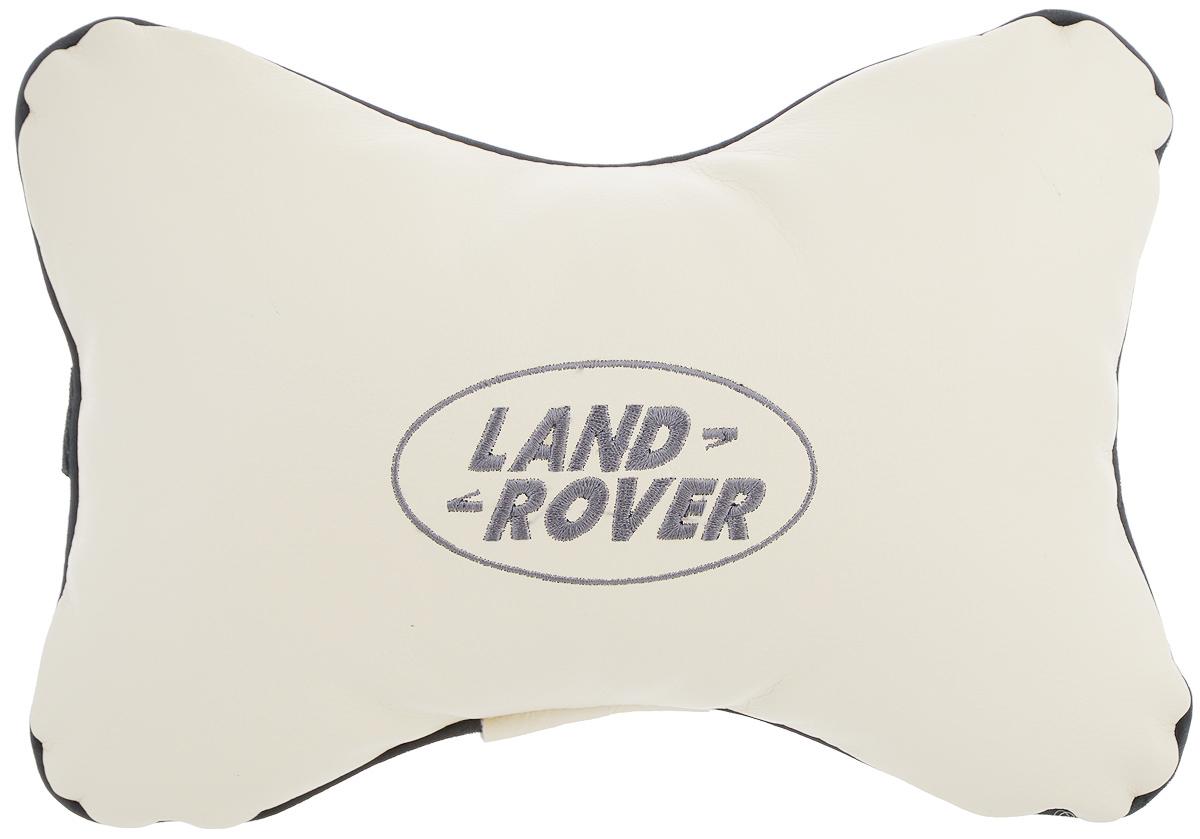 Подушка автомобильная Autoparts Land Rover, на подголовник, цвет: бежевый, серый, 30 х 20 см96515412Автомобильная подушка Autoparts Land Rover, выполненная из эко-кожи с мягким наполнителем из холлофайбера, снимает усталость с шейных мышц, обеспечивает правильное положение головы и амортизирует нагрузки на шейные позвонки при резком маневрировании. Ее можно зафиксировать на подголовнике с помощью регулируемого по длине ремня. На изделии имеется молния, с помощью которой вы с легкостью сможете поменять наполнитель. Если ваши пассажиры захотят вздремнуть, то подушка под голову окажется очень кстати и поможет расслабиться.