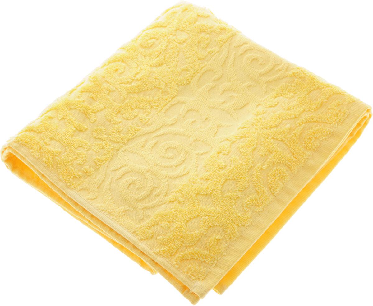 Полотенце Soavita Luxury. Квадро, цвет: желтый, 50 х 90 см51635Полотенце Soavita Luxury. Квадро выполнено из 100% хлопка. Изделие отлично впитывает влагу, быстро сохнет, сохраняет яркость цвета и не теряет форму даже после многократных стирок. Полотенце очень практично и неприхотливо в уходе. Оно создаст прекрасное настроение и украсит интерьер в ванной комнате. Рекомендуется стирка при температуре 40°C.