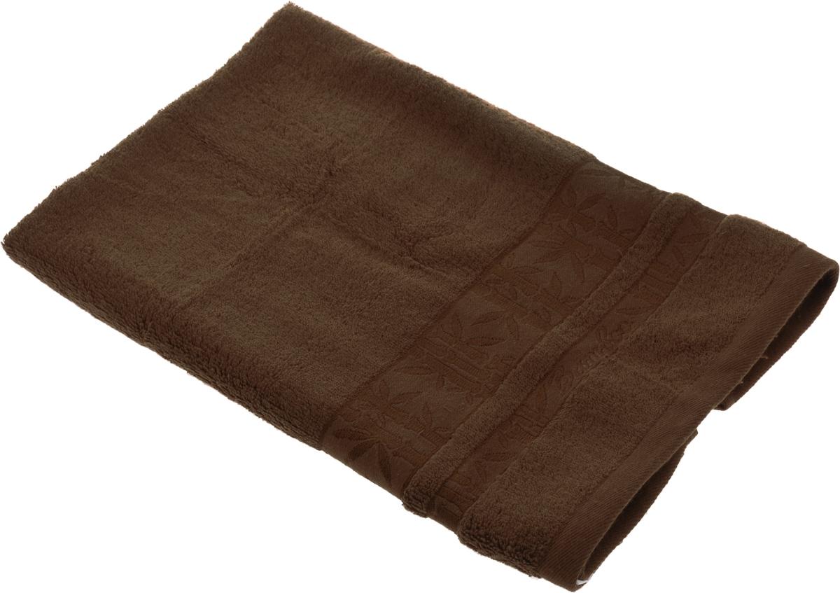 Полотенце Soavita Daniel, цвет: коричневый, 50 х 70 см64125Полотенце Soavita Daniel выполнено из 100% бамбукового волокна. Изделие отлично впитывает влагу, быстро сохнет, сохраняет яркость цвета и не теряет форму даже после многократных стирок. Полотенце очень практично и неприхотливо в уходе. Оно создаст прекрасное настроение и украсит интерьер в ванной комнате. Рекомендуется стирка при температуре 40°C.