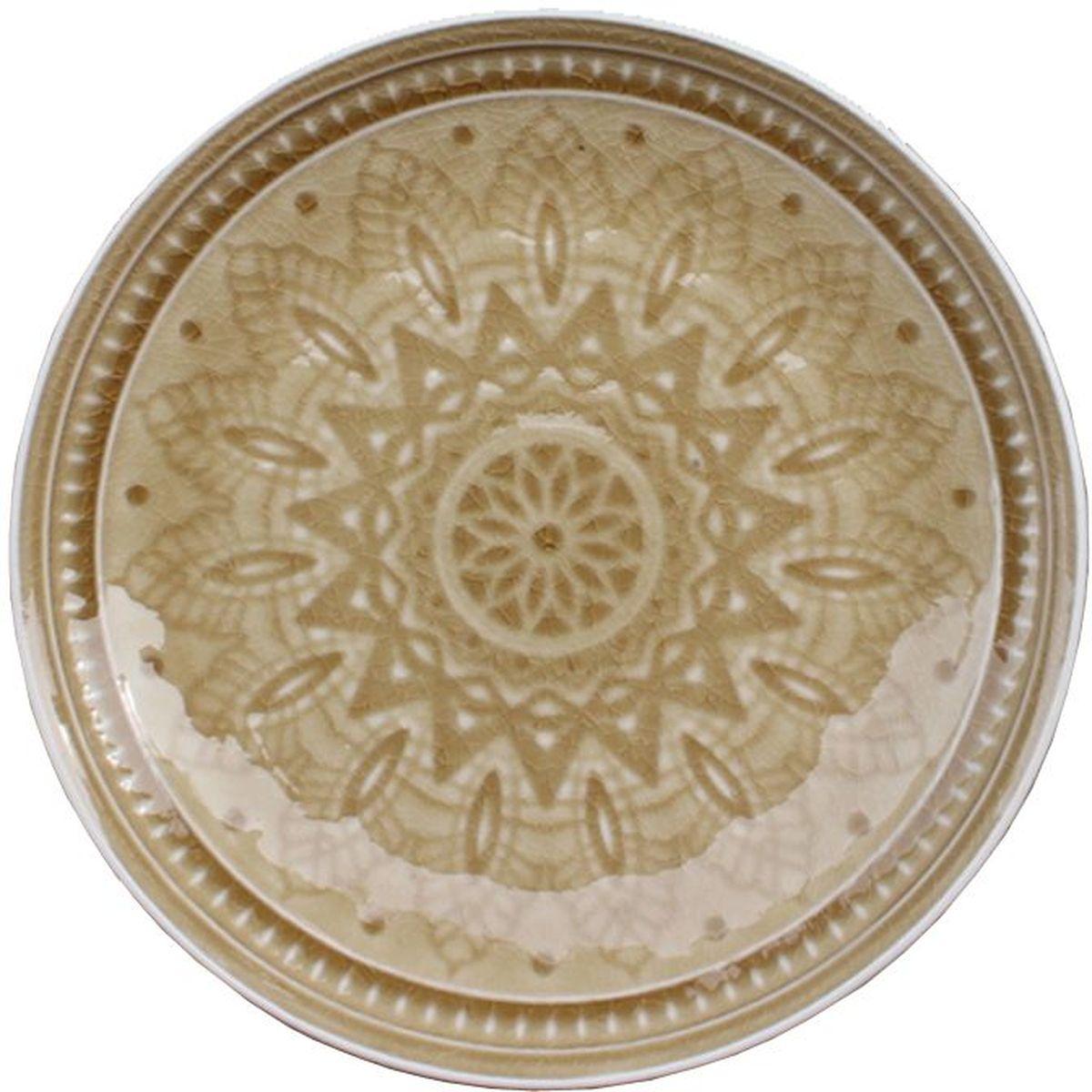 Набор десертных тарелок Tongo, цвет: золотая рожь, диаметр 20,5 см, 6 шт115510Традиционная этническая посуда Индонезии. Декоративная техника придает посуде этнический шарм, с элементами старения, в виде паутинки мелких трещинок на поверхности эмали, что повышает ее привлекательность и ценность среди посудных аналогов. В процессе эксплуатации мелкие трещины так же могут проявляться на внутренних поверхностях кружек и салатников, - что так же является задумкой дизайнеров, заложенной в производственной технологии.