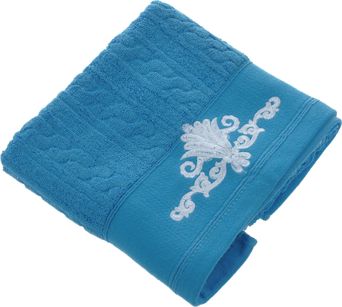 Полотенце Soavita Paolo, цвет: светло-синий, 50 х 90 см64058Махровое полотенце Soavita Paolo выполнено из 100% хлопка. Изделие отлично впитывает влагу, быстро сохнет, сохраняет яркость цвета и не теряет форму даже после многократных стирок. Полотенце очень практично и неприхотливо в уходе. Оно создаст прекрасное настроение и украсит интерьер в ванной комнате. Рекомендуется стирка при температуре 40°C.