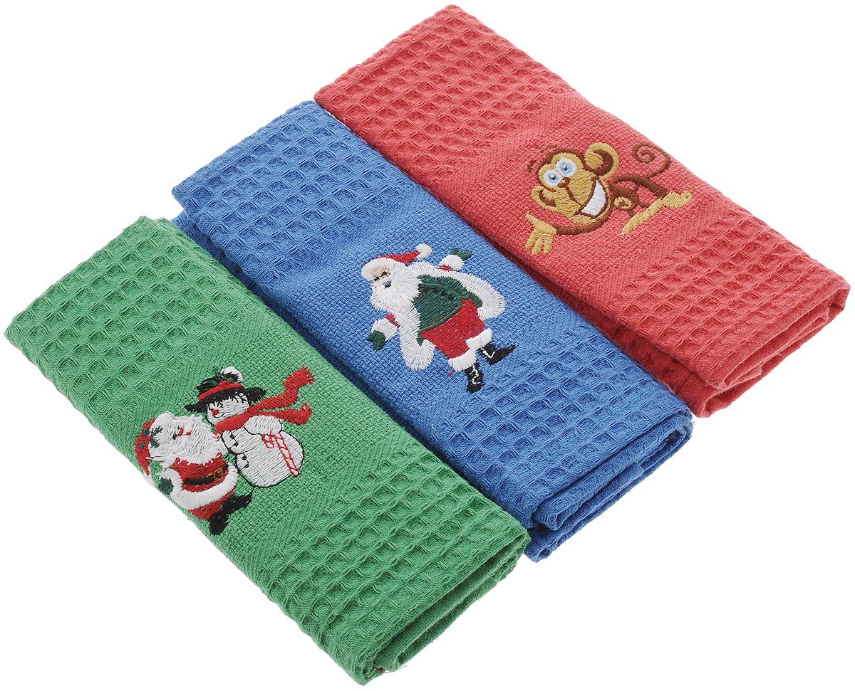 Набор кухонных полотенец Soavita С Новым годом, 40 х 60 см, 3 шт. 6658966589Набор Soavita С Новым годом состоит из трех полотенец, выполненных из 100% хлопка. Изделия предназначены для использования на кухне и в столовой. Полотенца упакованы в пластиковую сумку с текстильной ручкой. Набор полотенец Soavita С Новым годом - отличное приобретение для каждой хозяйки. Комплектация: 3 шт.