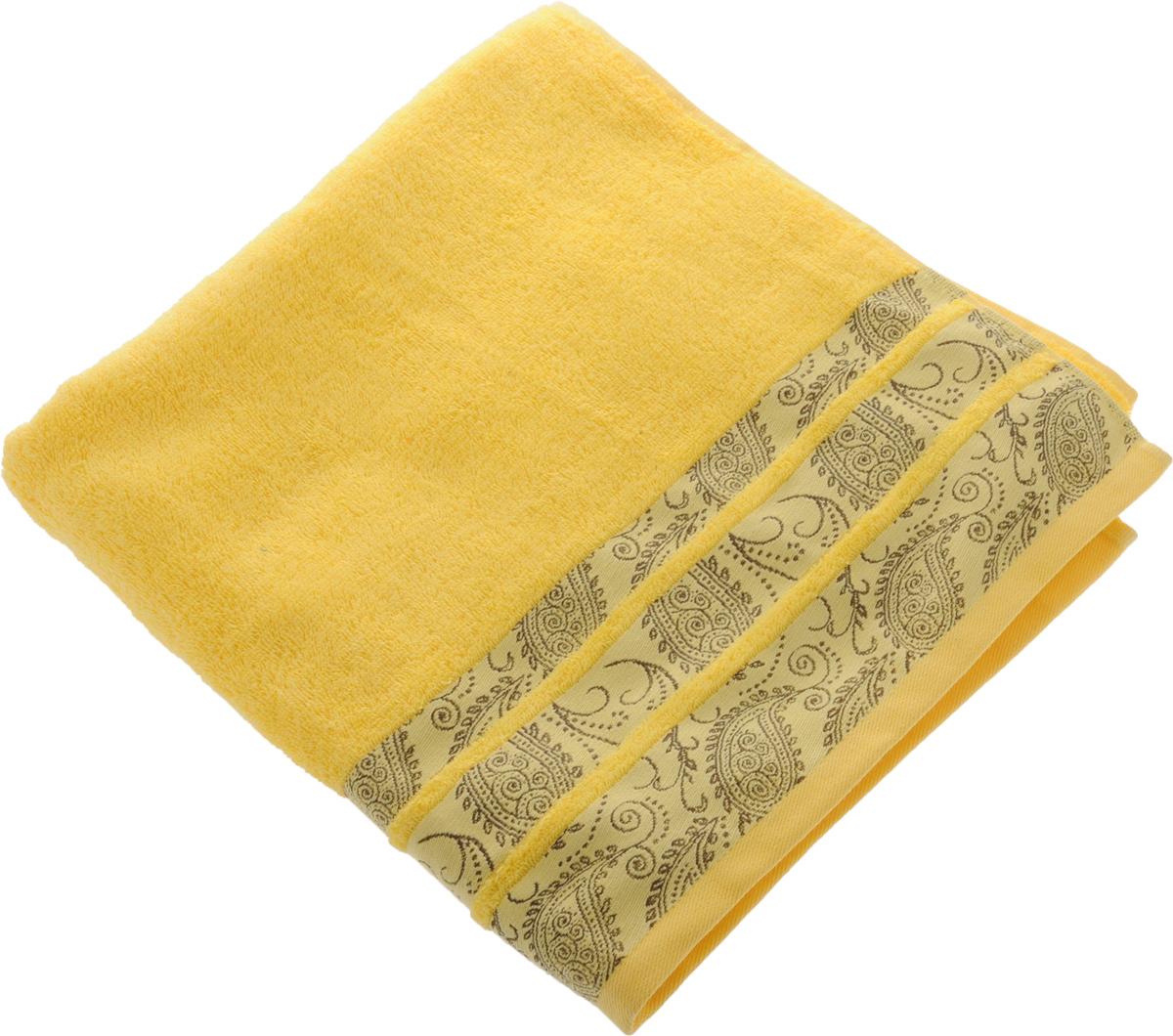 Полотенце Soavita Luxury. Almond, цвет: желтый, коричневый, 70 х 140 см61091Полотенце Soavita Luxury. Almond выполнено из 100% хлопка. Изделие отлично впитывает влагу, быстро сохнет, сохраняет яркость цвета и не теряет форму даже после многократных стирок. Полотенце очень практично и неприхотливо в уходе. Оно создаст прекрасное настроение и украсит интерьер в ванной комнате.