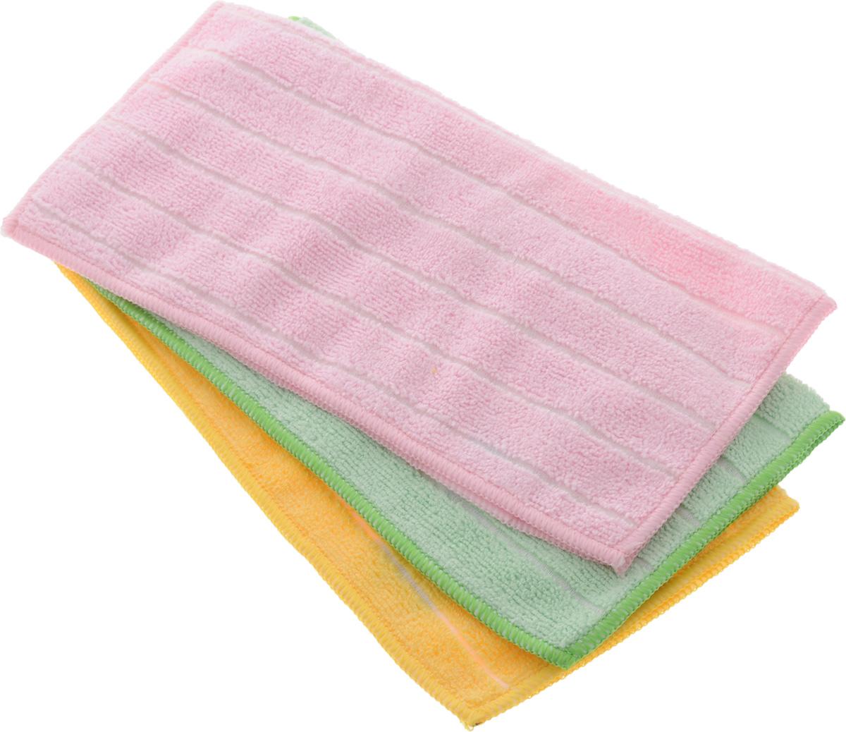 Салфетка универсальная Soavita Однотонные, 30 х 30 см, 3 шт51633Набор Soavita Однотонные состоит из трех салфеток, выполненных из микрофибры (80% полиэстер и 20% полиамид). Изделия отлично впитывают влагу, быстро сохнут, сохраняют яркость цвета и не теряют форму даже после многократных стирок. Салфетки универсальны, очень практичны и неприхотливы в уходе.