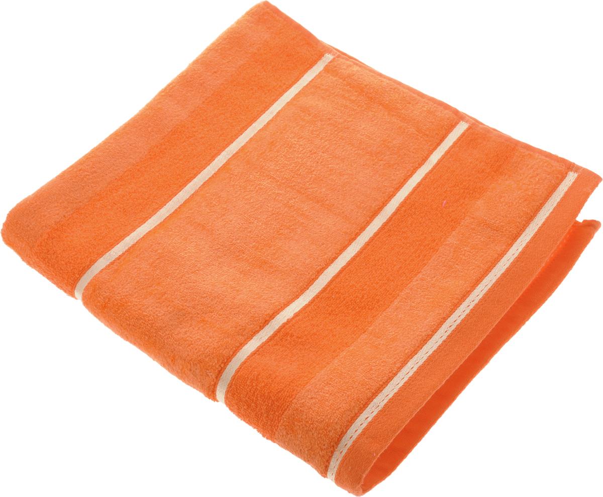 Полотенце Soavita Louise, цвет: оранжевый, 70 х 140 см64037Полотенце Soavita Louise выполнено из 100% хлопка. Все детали качественно прошиты, ткань очень плотная, не линяет и держится много лет. Изделие отлично впитывает влагу, быстро сохнет, сохраняет яркость цвета и не теряет форму даже после многократных стирок. Полотенце очень практично и неприхотливо в уходе. Оно создаст прекрасное настроение и украсит интерьер в ванной комнате.