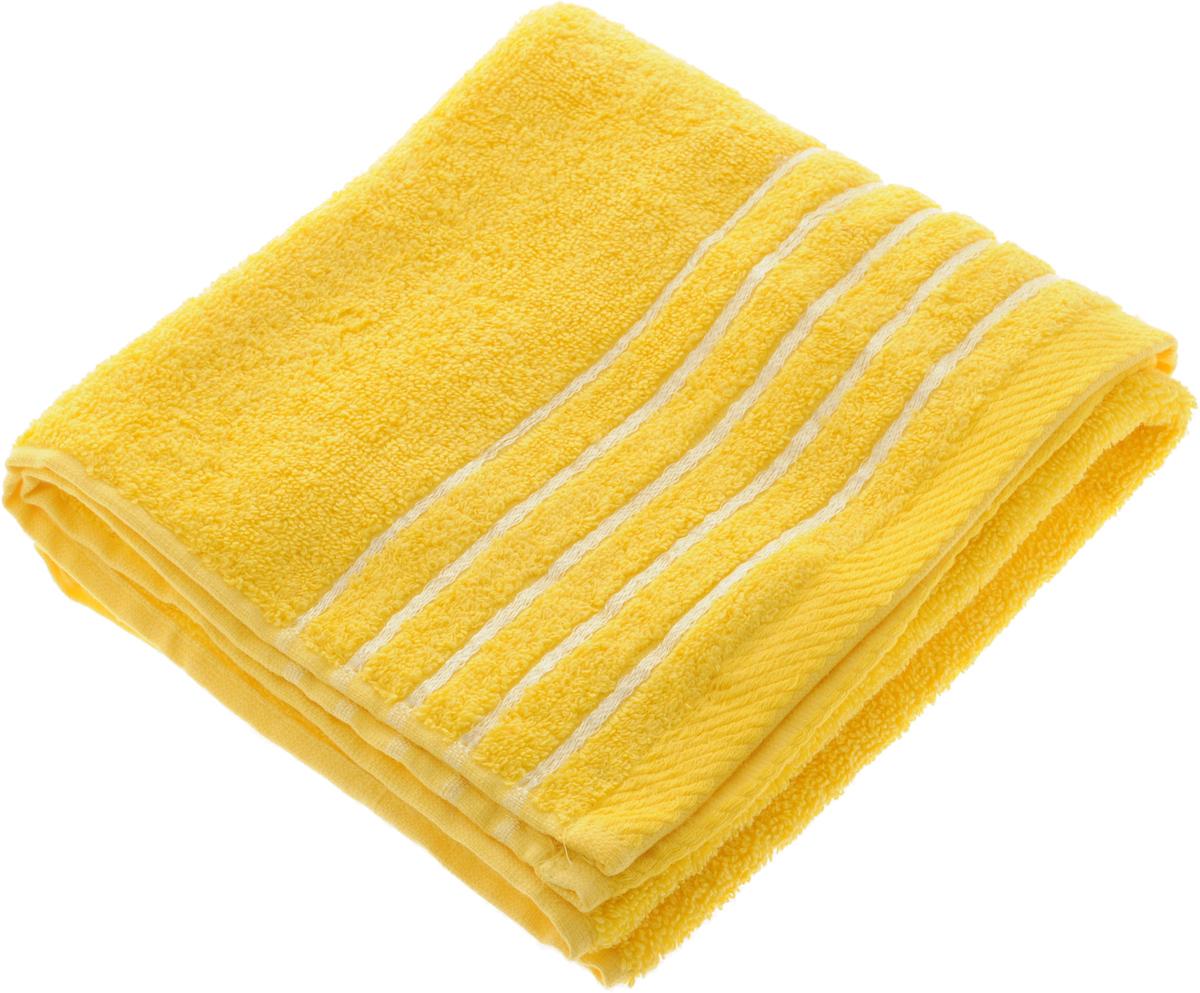 Полотенце Soavita Olivia, цвет: желтый, 50 х 90 смUP210DFПолотенце Soavita Olivia выполнено из 100% хлопка. Изделие отлично впитывает влагу, быстро сохнет, сохраняет яркость цвета и не теряет форму даже после многократных стирок. Полотенце очень практично и неприхотливо в уходе. Оно создаст прекрасное настроение и украсит интерьер в ванной комнате.