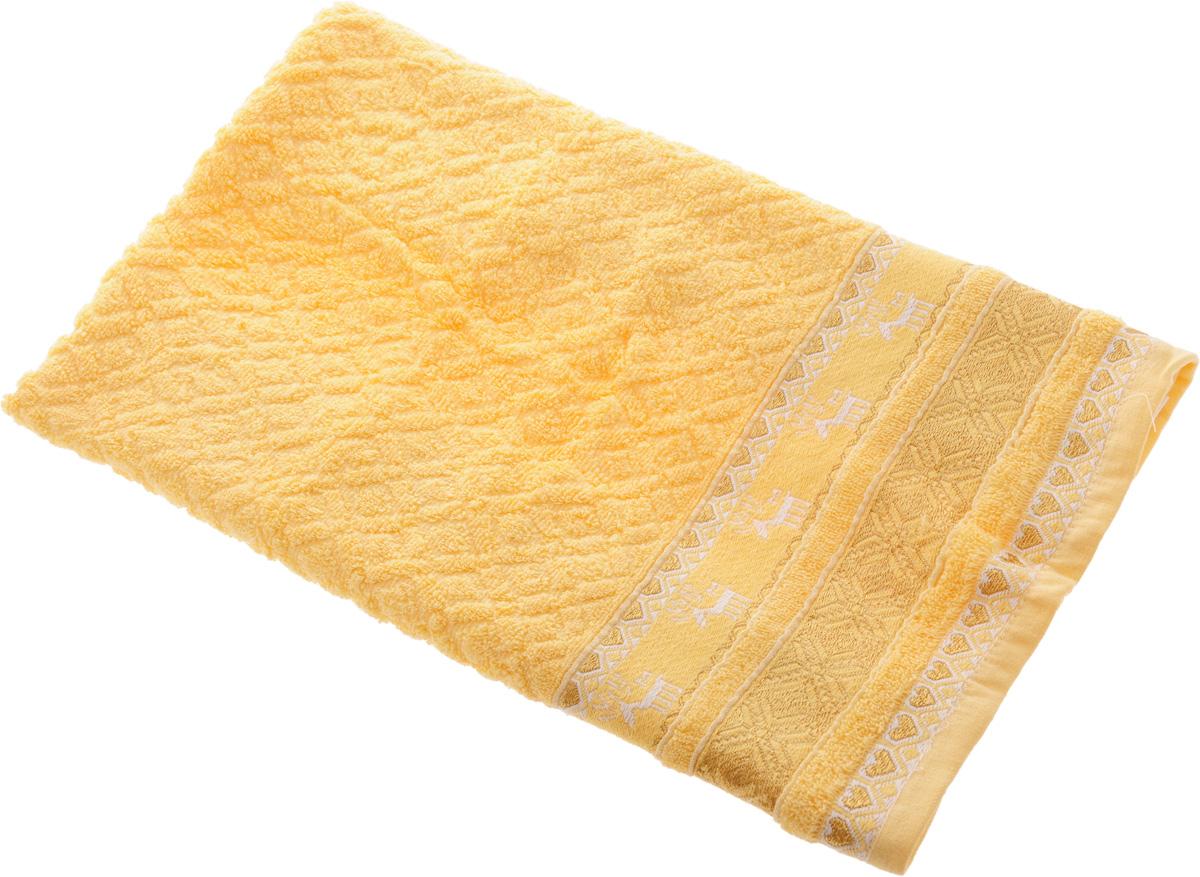 Полотенце Soavita Marco, цвет: желтый, 50 х 90 см10503Полотенце Soavita Marco выполнено из 100% хлопка. Изделие отлично впитывает влагу, быстро сохнет, сохраняет яркость цвета и не теряет форму даже после многократных стирок. Полотенце очень практично и неприхотливо в уходе. Оно создаст прекрасное настроение и украсит интерьер в ванной комнате.