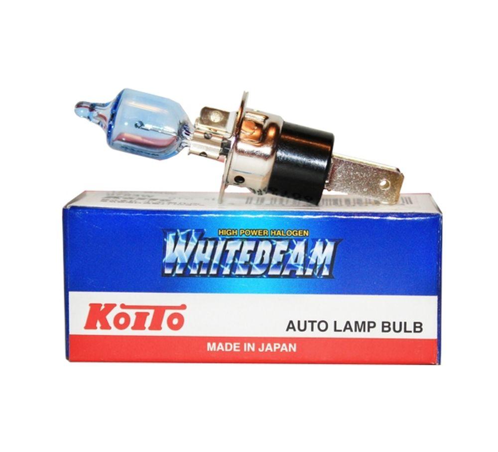 Лампа галогеновая Koito Whitebeam H3c, 12V, 55WKOITO Лампа автомобильная 0753W1. УДВОЕННАЯ ЯРКОСТЬ СВЕТА ФАРЕсли Вы хотите увеличить яркость света фар Вашего автомобиля - лампы KOITO Whitebeam будут лучшим выбором!Удвоенная ЯркостьЛампы KOITO Whitebeam являются вершиной развития технологий автомобильного освещения. Созданные с применением самых современных технологий и ноу-хау компании KOITO, разработанные на основе опыта поставок систем освещения крупнейшим мировым автопроизводителям, лампы серии Whitebeam III воплотили в себе весь опыт и достижения компании за почти вековую историю работы.Удвоенная яркость и отличная освещенность дороги обеспечивается за счет применения нескольких технологий:- Температура свечения нити накаливания, выполненная из материала с повышенной тугоплавкостью, выше, чем в стандартных галогеновых лампах.- Смесь инертных газов, специально закаченных в колбу под давлением, в два раза превышающим таковое в обычной лампе.Как результат, удвоенная яркость и улучшенная освещенность дороги! НАДЕЖНОСТЬ И ДОЛГИЙ СРОК СЛУЖБЫ...