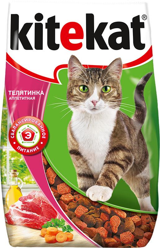 Корм сухой для кошек Kitekat телятинка аппетитная, 800 г40429