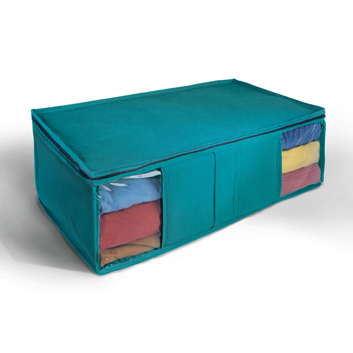 Кофр для хранения Miolla, цвет: синий, 60 х 30 х 20 см. CHL-10-1CHL-10-1Ящик текстильный для хранения вещей 60 x 30 x 20 см синий
