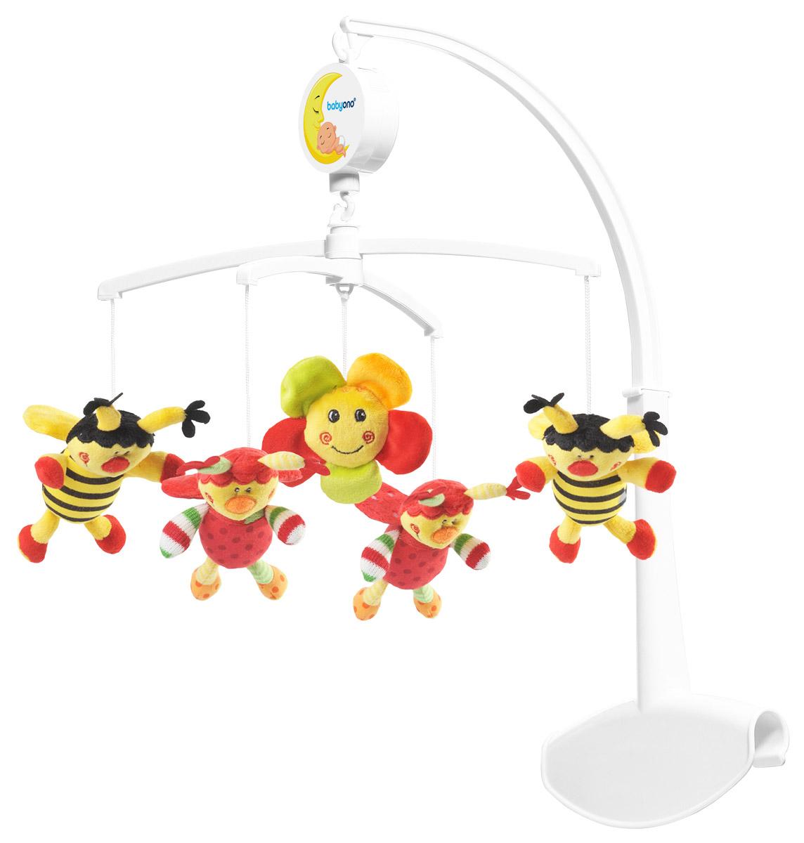 BabyOno Музыкальная карусель Божьи коровки и пчелки 1320