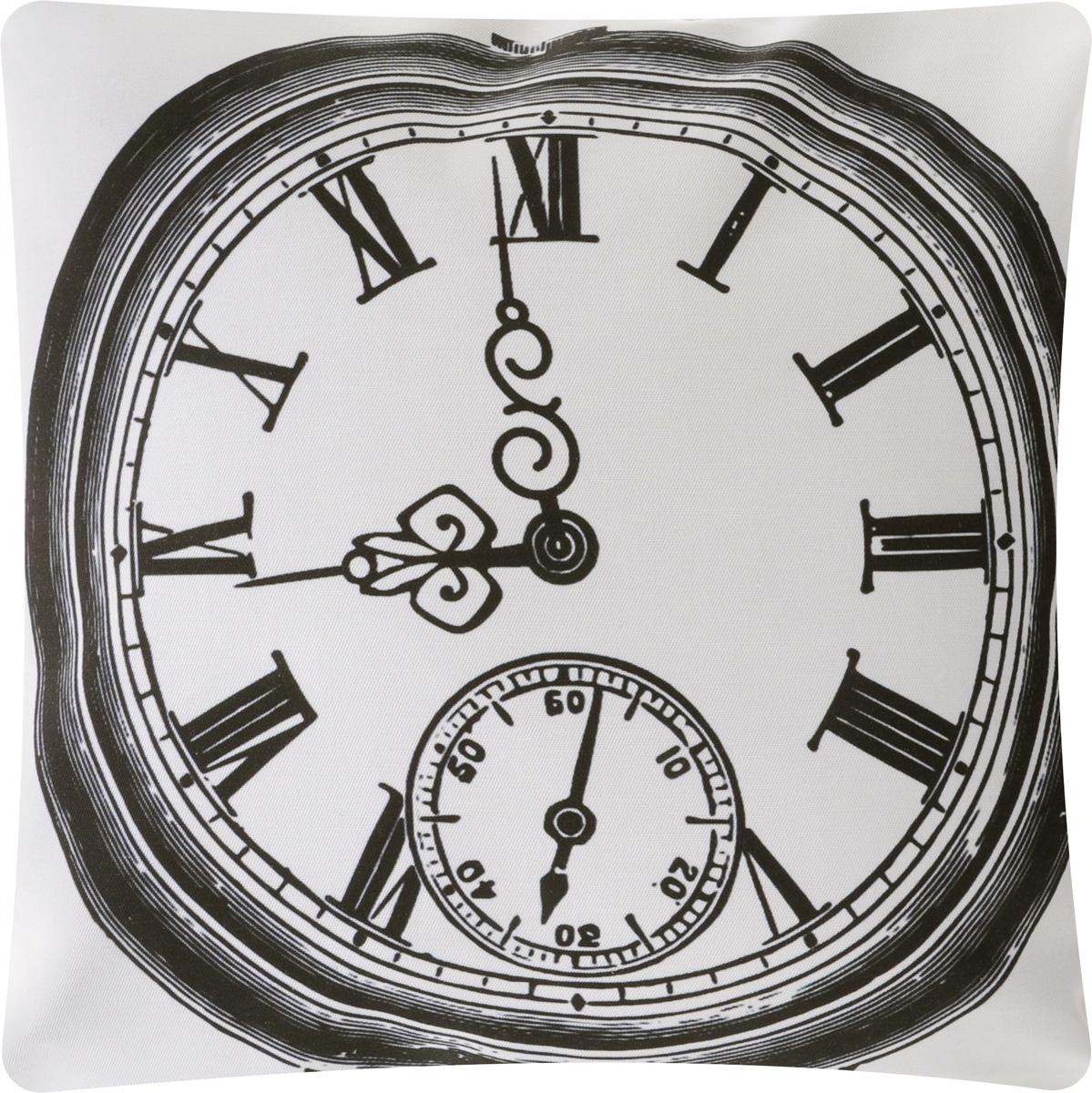 Подушка декоративная Proffi Старинные часы, цвет: белый, черный, 43 х 43 смPH5956_белыйДекоративная подушка Proffi Старинные часы - это яркое украшение вашего дома. Чехол выполнен из приятного на ощупь полиэстера и застегивается на молнию. Внутри - мягкий наполнитель, изготовленный из шариков холлофайбера. Лицевая сторона подушки украшена ярким изображением, задняя сторона - однотонная. Стильная и яркая подушка эффектно украсит интерьер и добавит в привычную обстановку изысканность и роскошь.