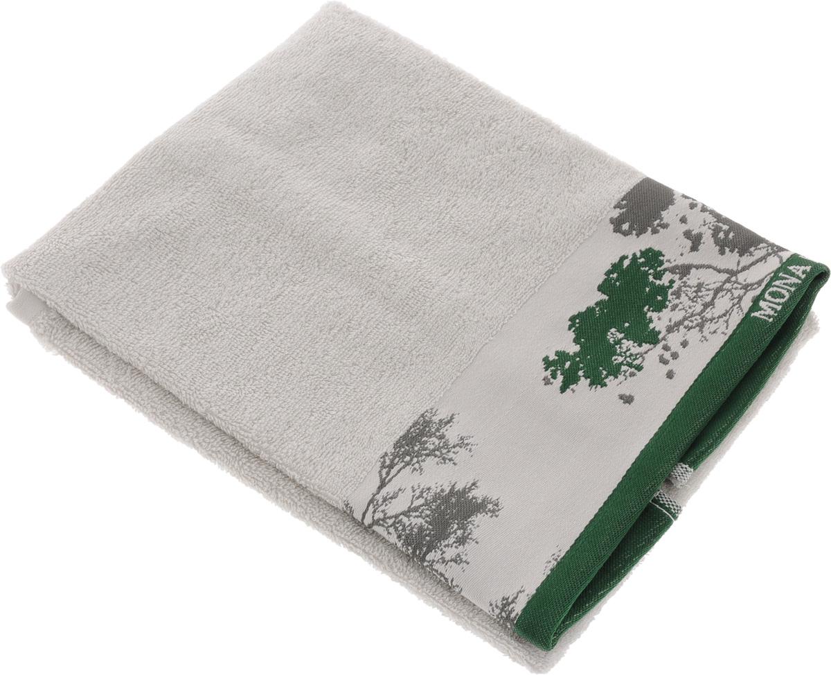 Полотенце Mona Liza Nature, цвет: светло-серый, зеленый, 50 х 90 см529673/2Мягкое полотенце Nature изготовлено из 30% хлопка и 70% бамбукового волокна. Полотенце Nature с жаккардовым бордюром обладает высокой впитывающей способностью и сочетает в себе элегантную роскошь и практичность. Благодаря высокому качеству изготовления, полотенце будет радовать вас многие годы. Мотивы коллекции Mona Liza Premium bu Serg Look навеяны итальянскими фресками эпохи Ренессанса, периода удивительной гармонии в искусстве. В представленной коллекции для нанесения на ткань рисунка применяется многоцветная печать, метод реактивного крашения, который позволяет создать уникальную цветовую гамму, напоминающую старинные фрески. Этот метод также обеспечивает высокую устойчивость краски при стирке.