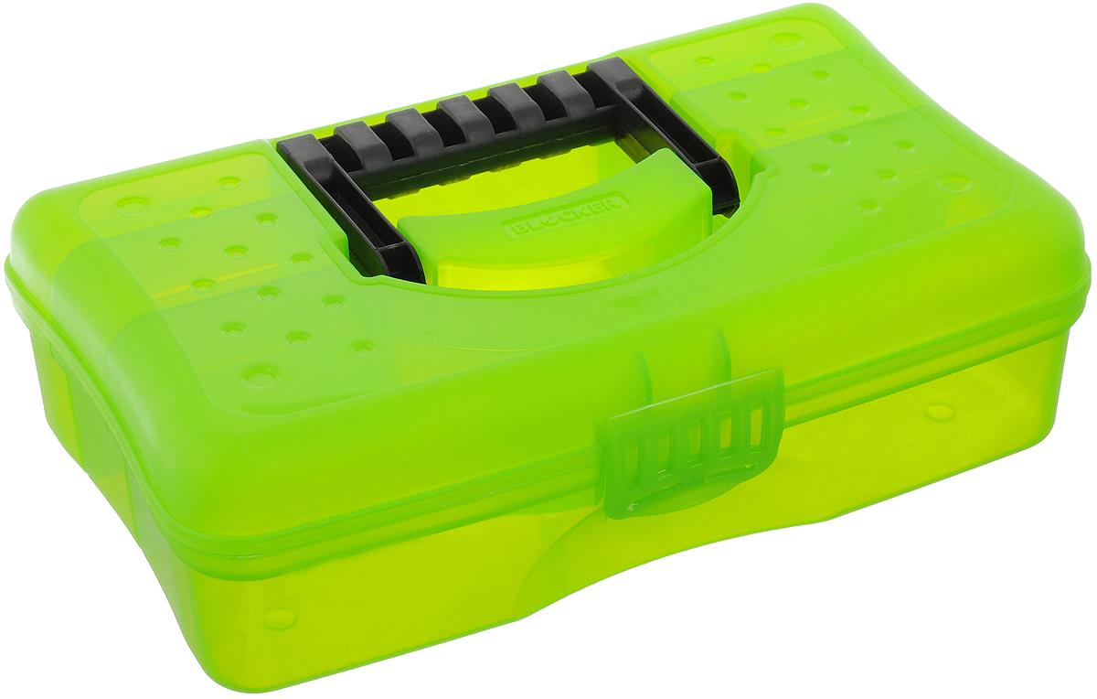 Органайзер Blocker Hobby Box, цвет: салатовый, черный, 29,5 х 18 х 9 смBR3751_салатовыйОрганайзер Blocker Hobby Box изготовлен из высококачественного прочного пластика. Изделие предназначено для хранения и переноски небольших инструментов, рыболовных принадлежностей, различных мелочей. Оснащен 6 секциями. Надежно закрывается при помощи пластмассовой защелки. На крышке имеется ручка для удобной переноски изделия. Размер самой большой секции: 29 х 8 х 6 см. Размер самой маленькой секции: 8 х 4,5 х 6 см.