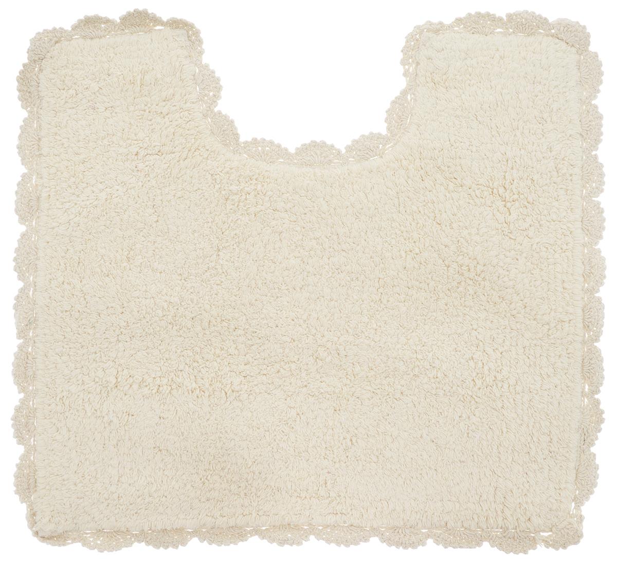 Коврик для туалета Arloni Лейс, цвет: бежевый, 50 х 50 см106-029Коврик Arloni Лейс изготовлен из экологически чистого материала - натурального хлопка. Оформлен невероятно красивым кружевом. Коврик мягкий и приятный на ощупь. Отличается высокой износоустойчивостью, хорошо впитывает влагу, не теряет своих свойств после многократных стирок. Коврик Arloni Лейс гармонично впишется в интерьер вашего дома и создаст атмосферу уюта и комфорта. Изделие отличается высоким качеством пошива и стильным дизайном, а материал прекрасно переносит большое количество стирок. Легко стирается в стиральной машине или вручную.