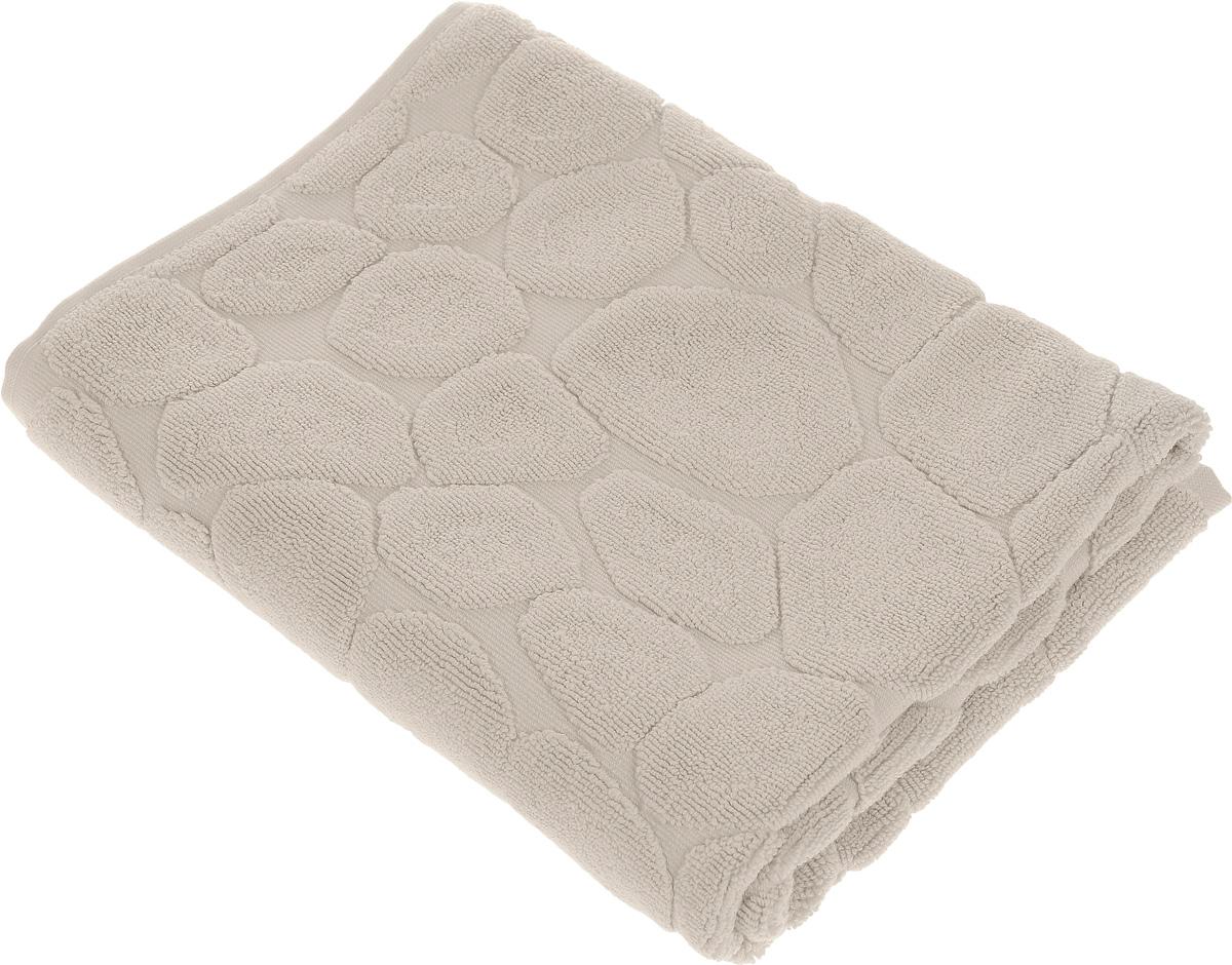 Коврик-полотенце для ванной Issimo Home Lavia, цвет: бежевый, 60 x 90 см4740Коврик-полотенце для ванной Issimo Home Lavia выполнен из высококачественного хлопка. Такое изделие подарит вам массу положительных эмоций и приятных ощущений. Коврик отличается нежностью и мягкостью материала, утонченным дизайном и превосходным качеством. Он прекрасно впитывает влагу, быстро сохнет и не теряет своих свойств после многократных стирок.