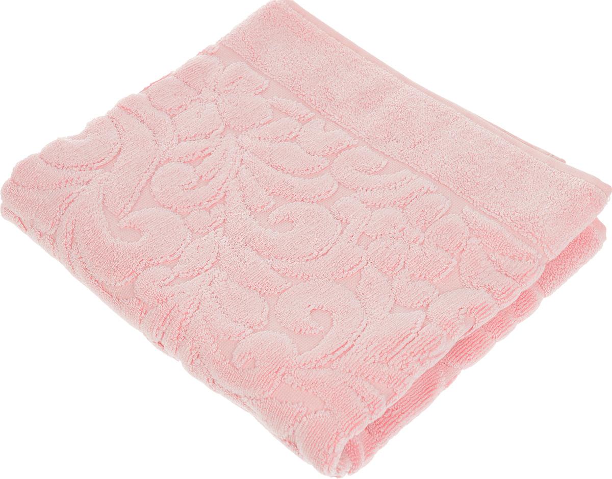 Коврик-полотенце для ванной Issimo Home Valencia, цвет: розовый, 50 x 80 см19201Коврик-полотенце для ванной Issimo Home Valencia выполнен из высококачественного хлопка и бамбука. Такое изделие подарит вам массу положительных эмоций и приятных ощущений. Коврик отличается нежностью и мягкостью материала, утонченным дизайном и превосходным качеством. Он прекрасно впитывает влагу, быстро сохнет и не теряет своих свойств после многократных стирок.