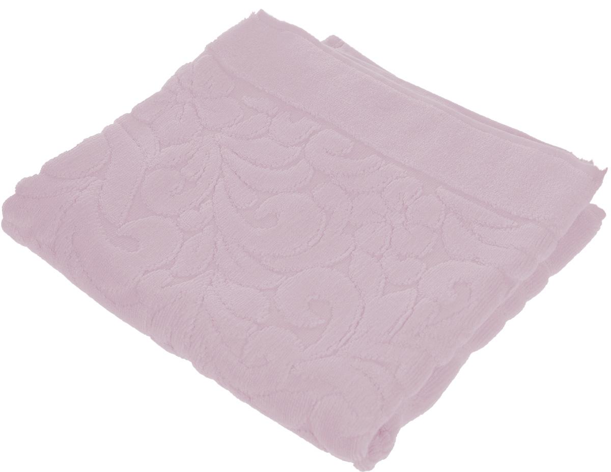 Коврик-полотенце для ванной Issimo Home Valencia, цвет: светло-пурпурный, 50 x 80 см4698Коврик-полотенце для ванной Issimo Home Valencia выполнен из высококачественного хлопка и бамбука. Такое изделие подарит вам массу положительных эмоций и приятных ощущений. Коврик отличается нежностью и мягкостью материала, утонченным дизайном и превосходным качеством. Он прекрасно впитывает влагу, быстро сохнет и не теряет своих свойств после многократных стирок.