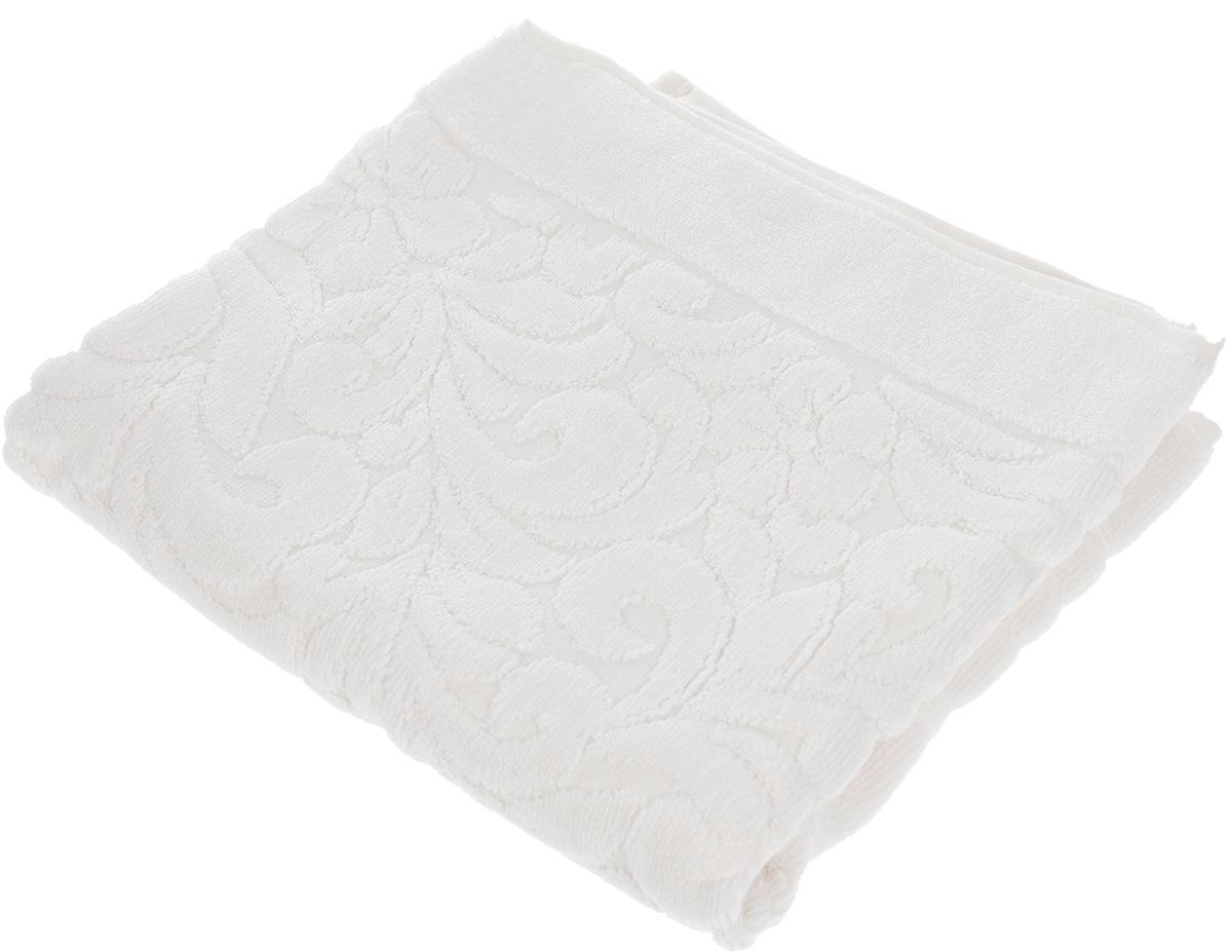 Коврик-полотенце для ванной Issimo Home Valencia, цвет: экрю, 50 x 80 см531-401Коврик-полотенце для ванной Issimo Home Valencia выполнен из высококачественного хлопка и бамбука. Такое изделие подарит вам массу положительных эмоций и приятных ощущений. Коврик отличается нежностью и мягкостью материала, утонченным дизайном и превосходным качеством. Он прекрасно впитывает влагу, быстро сохнет и не теряет своих свойств после многократных стирок.