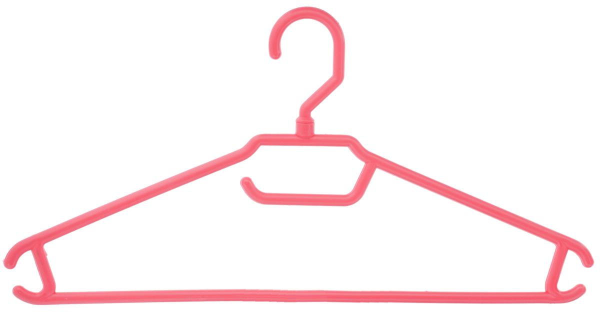Вешалка для одежды BranQ, цвет: коралловый, размер 48-50S03301004Вешалка BranQ изготовлена из полипропилена. Изделие оснащено перекладиной и боковыми крючками. Вешалка - это незаменимая вещь для того, чтобы одежда всегда оставалась в хорошем состоянии и имела опрятный вид.Размер одежды: 48-50.