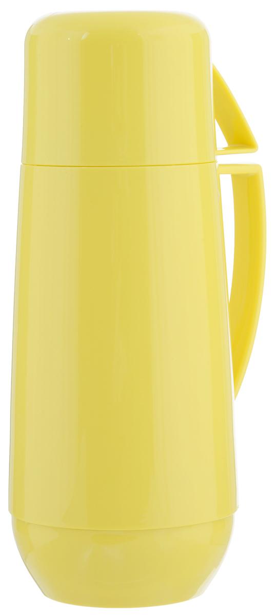 Термос с кружкой Family, цвет: желтый, 0,75 л. 310566310566Термос Family предназначен для хранения и переноски теплых и холодных напитков. Термос изготовлен из прочного пластика и снабжен стеклянной изоляционной колбой. Термос имеет удобную ручку и завинчивающуюся крышку, которая может выполнять функцию кружки с ручкой. Высота (с кружкой): 29 см.