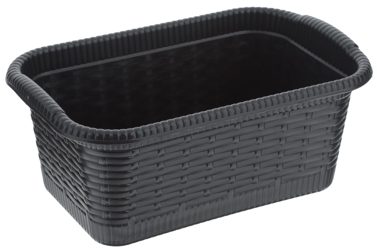 Корзина Gensini Rattan, цвет: черный, 3 л96515412Корзина Gensini Rattan, изготовленная из прочного пластика, предназначена для хранения мелочей в ванной, на кухне, даче или гараже. Легкая корзина со сплошным дном позволяет хранить мелкие вещи, исключая возможность их потери.