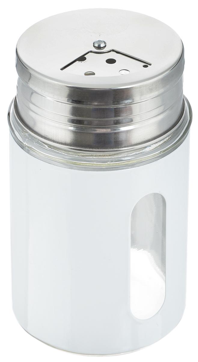 Емкость для специй Zeller, цвет: прозрачный, белый, 100 мл19793Емкость Zeller, выполненная из антикоррозийной стали и прочного стекла, предназначена для разнообразных специй. Изделие снабжено плотно закрывающийся крышкой с поворотным механизмом, который позволяет выбрать отверстия нужные по диаметру. Емкость имеет прозрачное окошко. Благодаря антистатической поверхности содержимое емкости не прилипает к стеклянному окошку, поэтому вы всегда можете видеть, что и в каком количестве содержится внутри. Такая функциональная и вместительная емкость станет незаменимым аксессуаром на любой кухне. Диаметр (по верхнему краю): 4 см. Высота (без учета крышки): 8 см.