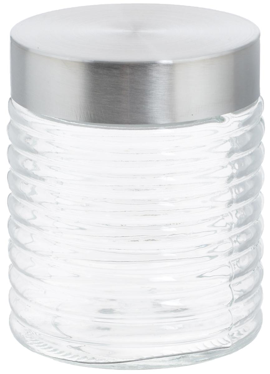 Банка для хранения Zeller, 650 мл19770Банка Zeller, изготовленная из прочного стекла, снабжена металлической крышкой, которая плотно закрывается, дольше сохраняя аромат и свежесть содержимого. Банка подходит для хранения сыпучих продуктов: круп, специй, орехов, сахара, соли и многого другого. Функциональная и вместительная, такая банка станет незаменимым аксессуаром на любой кухне. Диаметр банки (по верхнему краю): 9 см. Высота банки (с учетом крышки): 12,5 см.