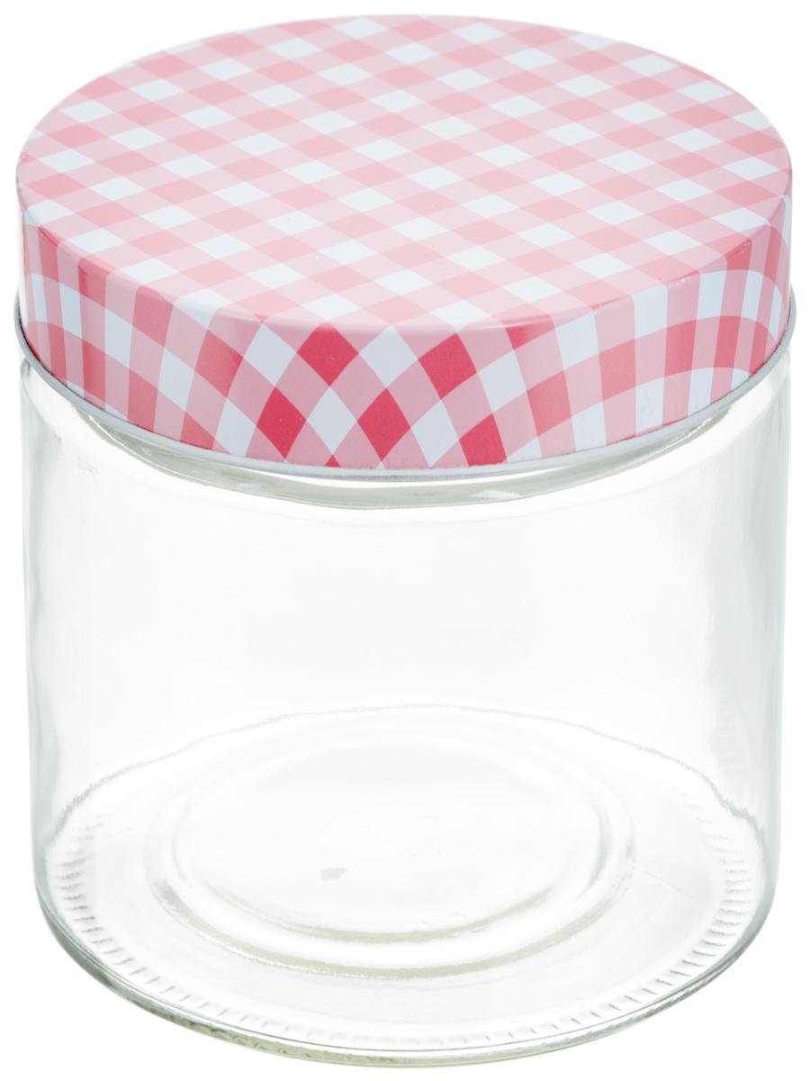 Банка для хранения Zeller, цвет: прозрачный, розовый, 750 мл19780Универсальная банка Zeller, изготовленная из прочного стекла, снабжена металлической крышкой, которая плотно закрывается, дольше сохраняя аромат и свежесть содержимого. Изделие подходит для хранения сыпучих продуктов: круп, специй, орехов, сахара, соли и многого другого. Функциональная и вместительная, такая банка станет незаменимым аксессуаром на любой кухне. Диаметр банки (по верхнему краю): 10 см. Высота банки (без учета крышки): 12 см.