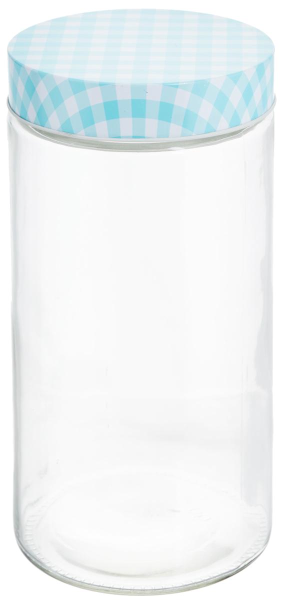 Банка для хранения Zeller, цвет: прозрачный, голубой, 2,1 л19783Банка Zeller, изготовленная из прочного стекла, снабжена металлической крышкой, которая плотно закрывается, дольше сохраняя аромат и свежесть содержимого. Изделие подходит для хранения сыпучих продуктов: круп, специй, орехов, сахара, соли и многого другого. Функциональная и вместительная, такая банка станет незаменимым аксессуаром на любой кухне. Диаметр банки (по верхнему краю): 10 см. Высота банки (без учета крышки): 27 см.