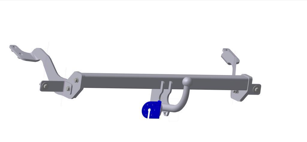 Фаркоп Bosal для Citroen Berlingo II, Peugeot Partner II 2008->..., горизонтальная/вертикальная нагрузка на шар 1200/50 (без электрики), 2551-A2551-AТип шара А – съемный на двух болтах шар, грузоподъемность 1500 кг.