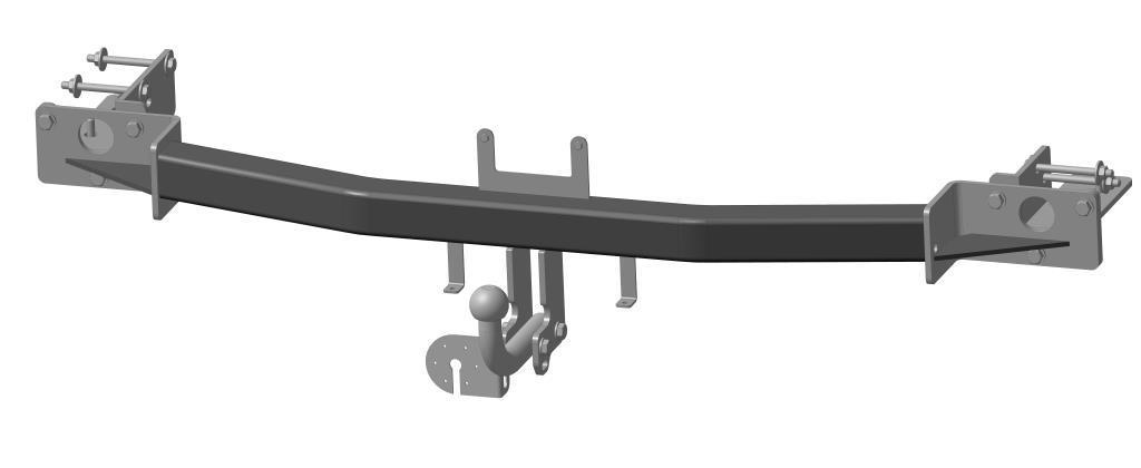 Фаркоп Bosal для Kia Sorento 2009-2012, горизонтальная/вертикальная нагрузка на шар 1500/75 (вырез в бампере), 6741-A6741-AТип шара А – съемный на двух болтах шар, грузоподъемность 1500 кг.