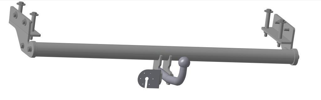 Фаркоп Bosal для Kia Cerato sedan 2009-2012, горизонтальная/вертикальная нагрузка на шар 1300/50, 6744-A6744-AТип шара А – съемный на двух болтах шар, грузоподъемность 1500 кг.