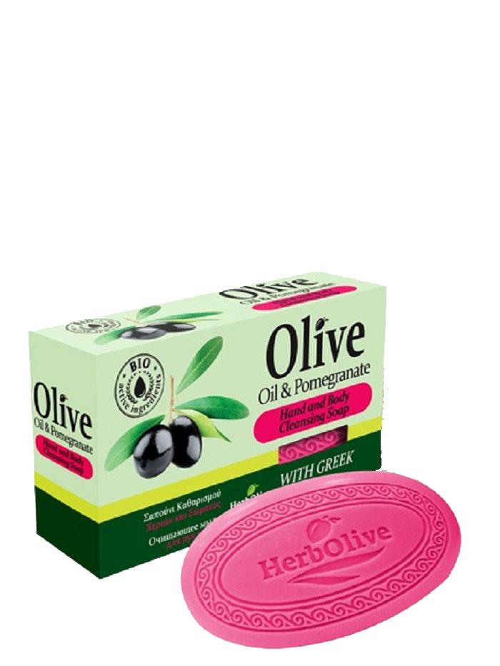 HerbOlive Оливковое мыло с гранатом 90 г5200310401770Природные антиоксиданты которые содержатся в оливковом мыле увлажняют и питают кожу. Натуральное оливковое мыло, производится без искусственных красителей и химических добавок, стимулируют новые клетки к регенерации и замедляет старение. В то же время смягчает кожу и облегчает многие заболевания, включая акне, экзему. Косметика произведена в Греции на основе органического сырья, НЕ СОДЕРЖИТ минеральные масла, вазелин, пропиленгликоль, парабены, генетически модифицированные продукты (ГМО)