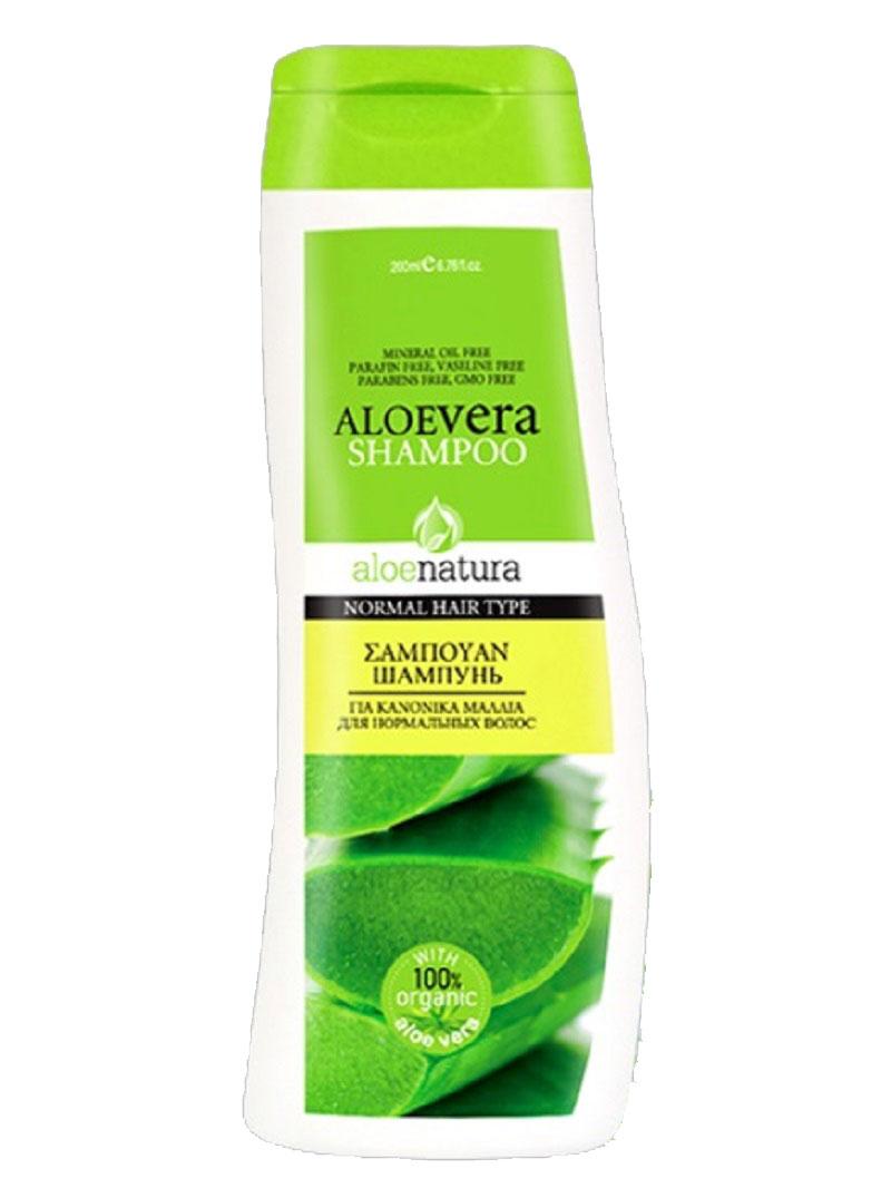AloeNatura Шампунь для нормальных волос 200 млFS-00103Шампунь с активным экстрактом алоэ и провитамином В5 идеален для нормальных волос. Питает и восстанавливает волосы, придавая восхитительный блеск.Косметика произведена в Греции на основе органического сырья, НЕ СОДЕРЖИТ минеральные масла, вазелин, пропиленгликоль, парабены, генетически модифицированные продукты (ГМО)