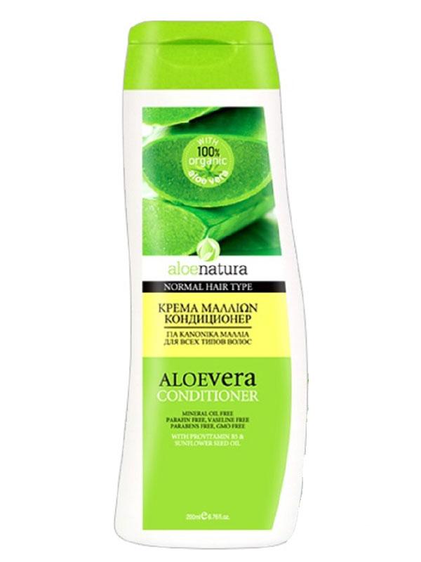 AloeNatura Кондиционер для всех типов волос 200 мл5200310403040Кондиционер бережно увлажняет и укрепляет, сохраняя естественную защиту волоса. Делает волосы здоровыми, блестящими и шелковистыми. Подходит для всех типов волос. Косметика произведена в Греции на основе органического сырья, НЕ СОДЕРЖИТ минеральные масла, вазелин, пропиленгликоль, парабены, генетически модифицированные продукты (ГМО)