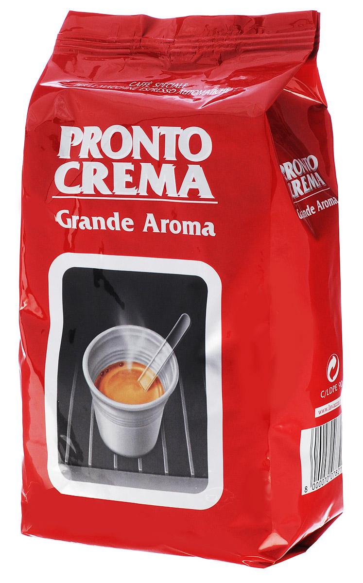 Lavazza Pronto Crema кофе в зернах, 1 кг8000070078215Кофе в зернах Lavazza Pronto Crema Grande Aroma представляет собой утонченную смесь, в состав которой входит 100% арабика ценнейших сортов. Смесь характеризуется мягким и сладковатым вкусом с ненавязчивой пикантностью, дает небольшую пенку и приятное продолжительное послевкусие. Кофе темной обжарки идеально подходит для приготовления классического крепкого эспрессо в стандартной автоматической кофемашине.
