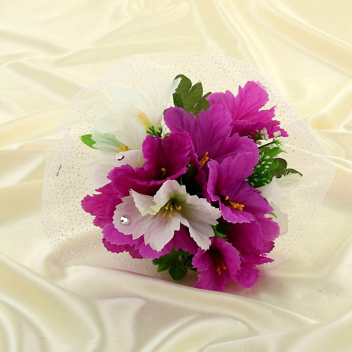 """Букет-дублер """"Sima-land"""", цвет: бело-фиолетовый. 1135088"""