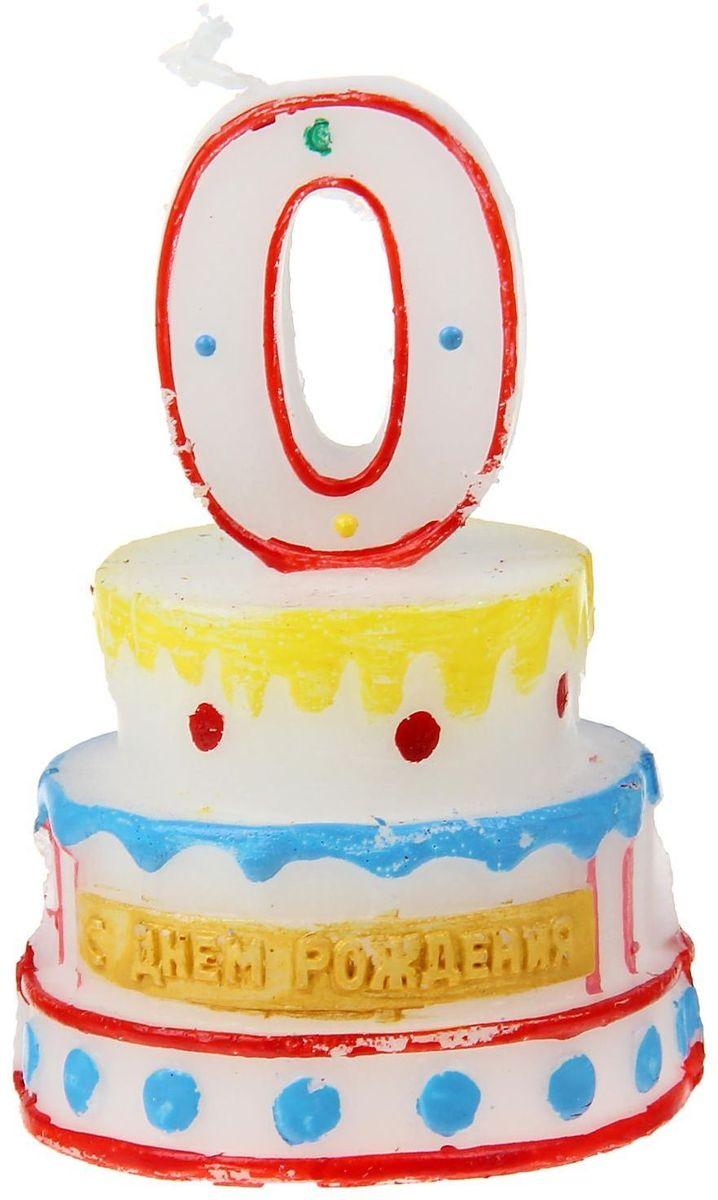 Sima-land Свеча для торта Цифра 0 на торте