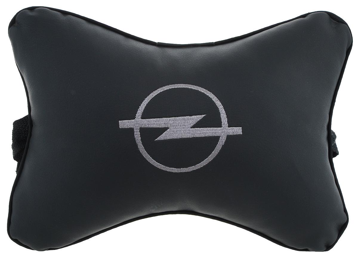 Подушка автомобильная Autoparts Opel, на подголовник, цвет: черный, серый, 27 х 20 смМ11_черныйАвтомобильная подушка Autoparts Opel, выполненная из эко-кожи с мягким наполнителем из холлофайбера, снимает усталость с шейных мышц, обеспечивает правильное положение головы и амортизирует нагрузки на шейные позвонки при резком маневрировании. Ее можно зафиксировать на подголовнике с помощью регулируемого по длине ремня. На изделии имеется молния, с помощью которой вы с легкостью сможете поменять наполнитель. Если ваши пассажиры захотят вздремнуть, то подушка под голову окажется очень кстати и поможет расслабиться.