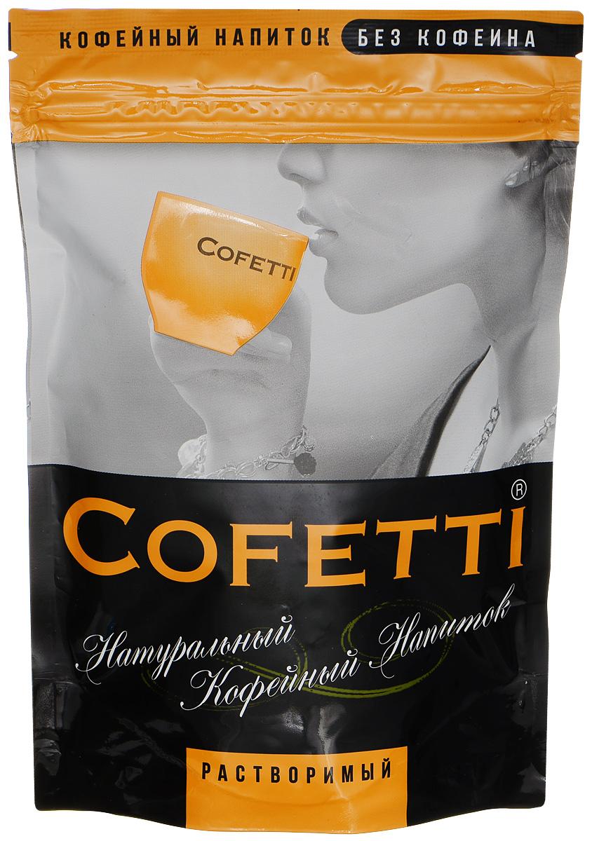 Cofetti напиток кофейный растворимый, 100 г0120710Cofetti - это натуральный кофейный напиток на основе обжаренных зерен ячменя и ржи, имеющий насыщенный кофейный цвет и богатый большим количеством полезных веществ. Ячменно-ржаной тонизирующий напиток создан для людей, привыкших к употреблению в течение дня кофе, кофе без кофеина, цикория и других горячих напитков. Cofetti - более полезная альтернатива, их полноценный заменитель.