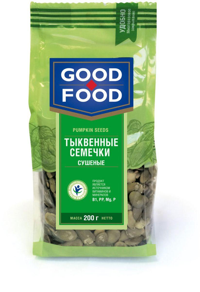 Good Food тыквенные семечки сушеные, 200 г4620000677215Ядра семян тыквы, одного вида, однородные по величине и форме.