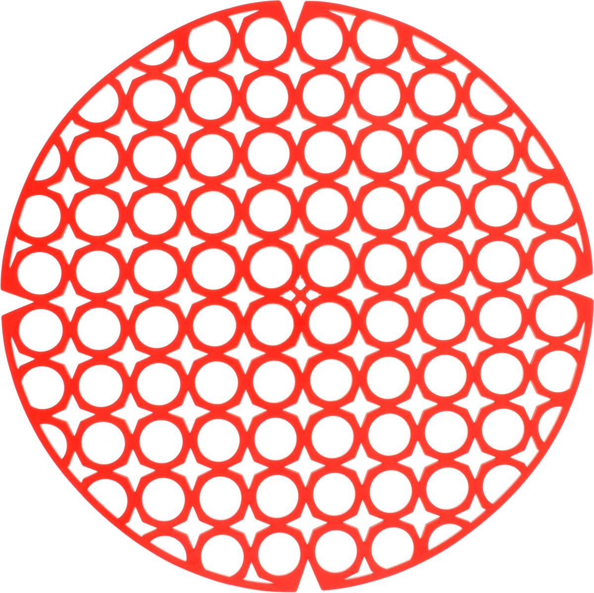 Коврик для раковины York, цвет: красный, диаметр 27,5 см9560/095600_красныйСтильный и удобный коврик для раковины York изготовлен из сложных полимеров. Он одновременно выполняет несколько функций: украшает, защищает мойку от царапин и сколов, смягчает удары при падении посуды в мойку. Коврик также можно использовать для сушки посуды, фруктов и овощей. Он легко очищается от грязи и жира. Диаметр: 27,5 см.