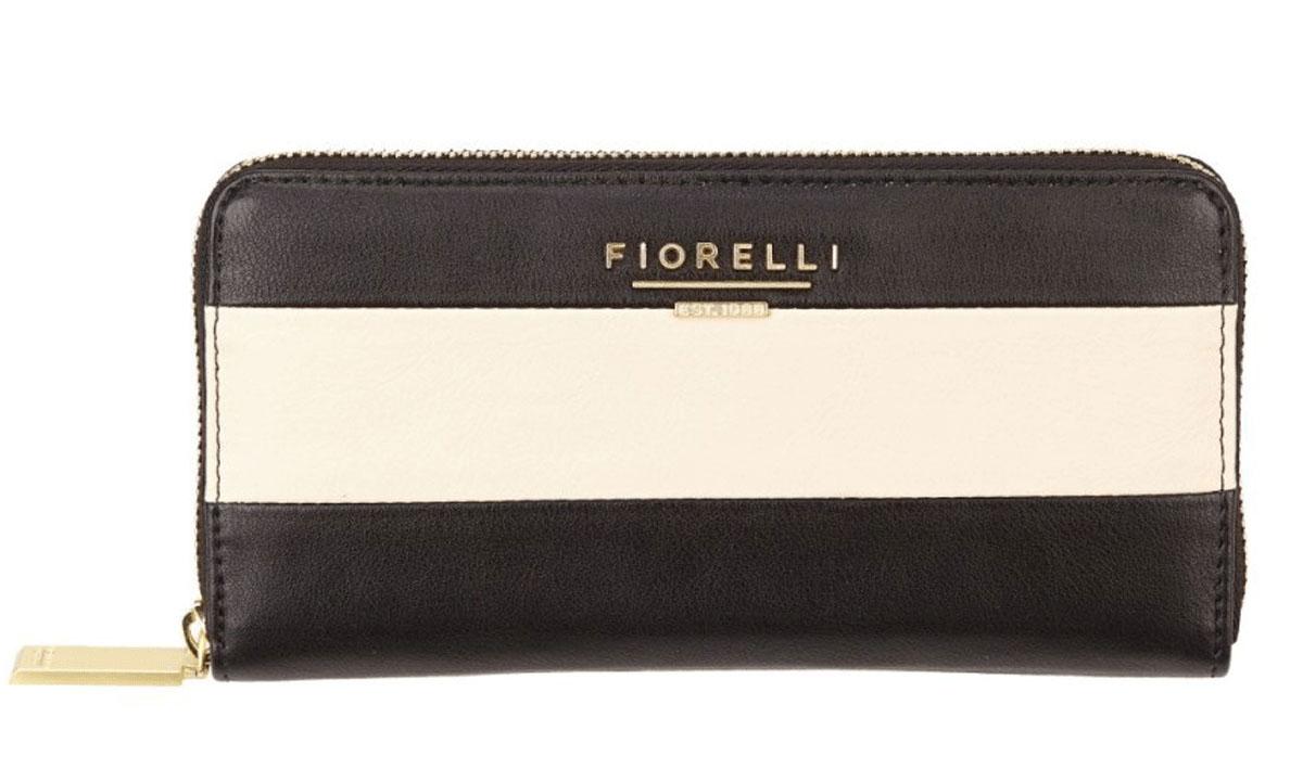 Кошелек женский Fiorelli, цвет: черный, белый. 0797 FS Mono Stripe0797 FS Mono StripeДизайн продукции Fiorelli разрабатывается в Лондоне молодой, амбициозной командой, идущей в ногу со временем и предлагающей модели, которые предназначены для любых случаев, как для выхода в свет, так и для рабочих будней, торжественных приемов или коктейльных вечеринок.