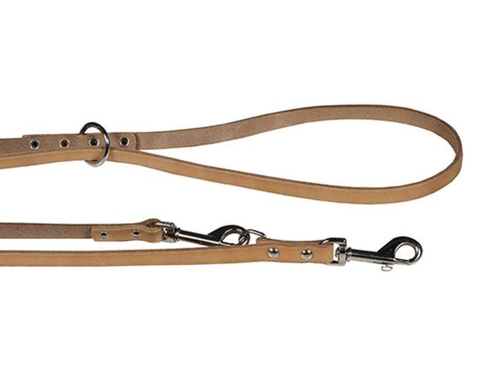 Поводок для собак Каскад Классика, переменной длины, цвет: коричневый, ширина 1,5 см, длина 115-185 см02015001кПоводок для собак Каскад Классика, изготовленный из натуральной кожи, снабжен 2 металлическими карабинами. Поводок отличается не только исключительной надежностью и удобством, но и ярким дизайном. Он идеально подойдет для активных собак, для прогулок на природе и охоты. Поводок - необходимый аксессуар для собаки. Ведь в опасных ситуациях именно он способен спасти жизнь вашему любимому питомцу. Так же поводок можно использовать одновременно для двух собак. Максимальная длина поводка: 185 см. Минимальная длина поводка: 115 см. Ширина поводка: 1,5 см.