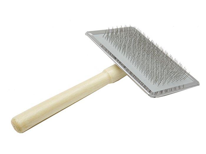 Пуходерка Каскад, деревянная ручка, без шариков, размер M