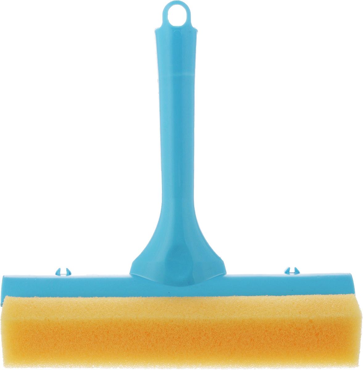 Стеклоочиститель York, с водосгоном, цвет: голубой, 19,5 см10503Стеклоочиститель York, выполненный изсложных полимеров, поролона и резины, станетнезаменимым помощником при уборке. Онстирает жидкость со стекла благодаря мягкойгубке, а для полного вытирания имеетсярезиновый водосгон. С помощью регулируемоголезвия стеклоочистителя можно подобратьнеобходимую длину. Длина ручки: 16 см.Ширина рабочей поверхности: 19,5 см.