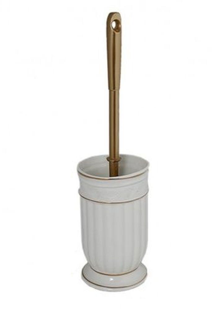 Ершик для унитаза Vanstore Allure, с подставкой, 2 предмета382-06Ершик для унитаза Vanstore Allure выполнен из металла и пластика с жестким ворсом. Он хранится в специальной керамической подставке. Ерш отлично чистит поверхность, а грязь с него легко смывается водой. Стильный дизайн изделия притягивает взгляд и прекрасно подойдет к интерьеру туалетной комнаты. Размер ершика: 12 х 12 х 39 см.