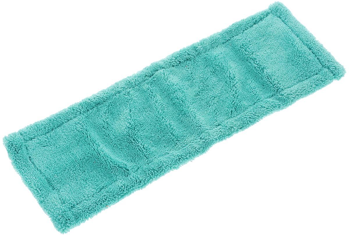 Насадка для швабры York Классик, сменная, цвет: бирюзовый. 8109U110DFСменная насадка для швабры York Классик изготовлена из микрофибры (полиамид, полиэстер). Микрофибра обладает высокой износостойкостью, не царапает поверхности и отлично впитывает влагу. Насадка отлично удаляет большинство загрязнений. Насадка идеально подходит для мытья всех видов напольных покрытий. Она не оставляет разводов и ворсинок. Сменная насадка для швабры York Классик станет незаменимой в хозяйстве.Насадку можно стирать при температуре 40°С.Размер насадки: 40 х 14 х 1,5 см.