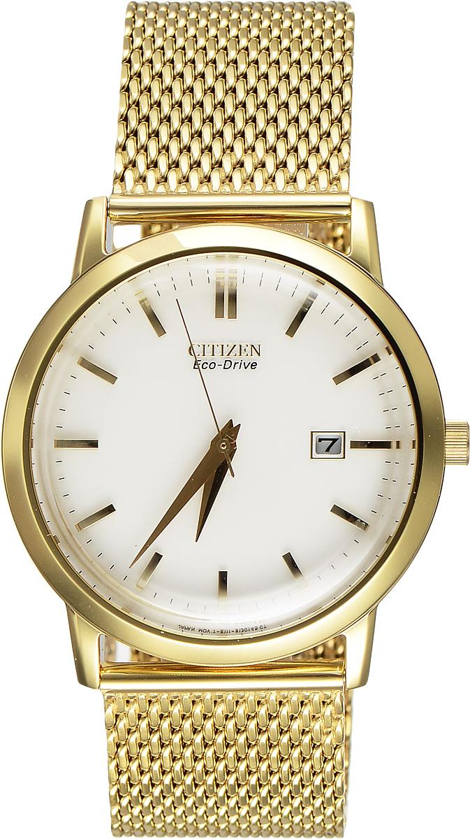 """Часы наручные мужские Citizen """"Eco-Drive"""", цвет: золотой. BM7192-51A"""